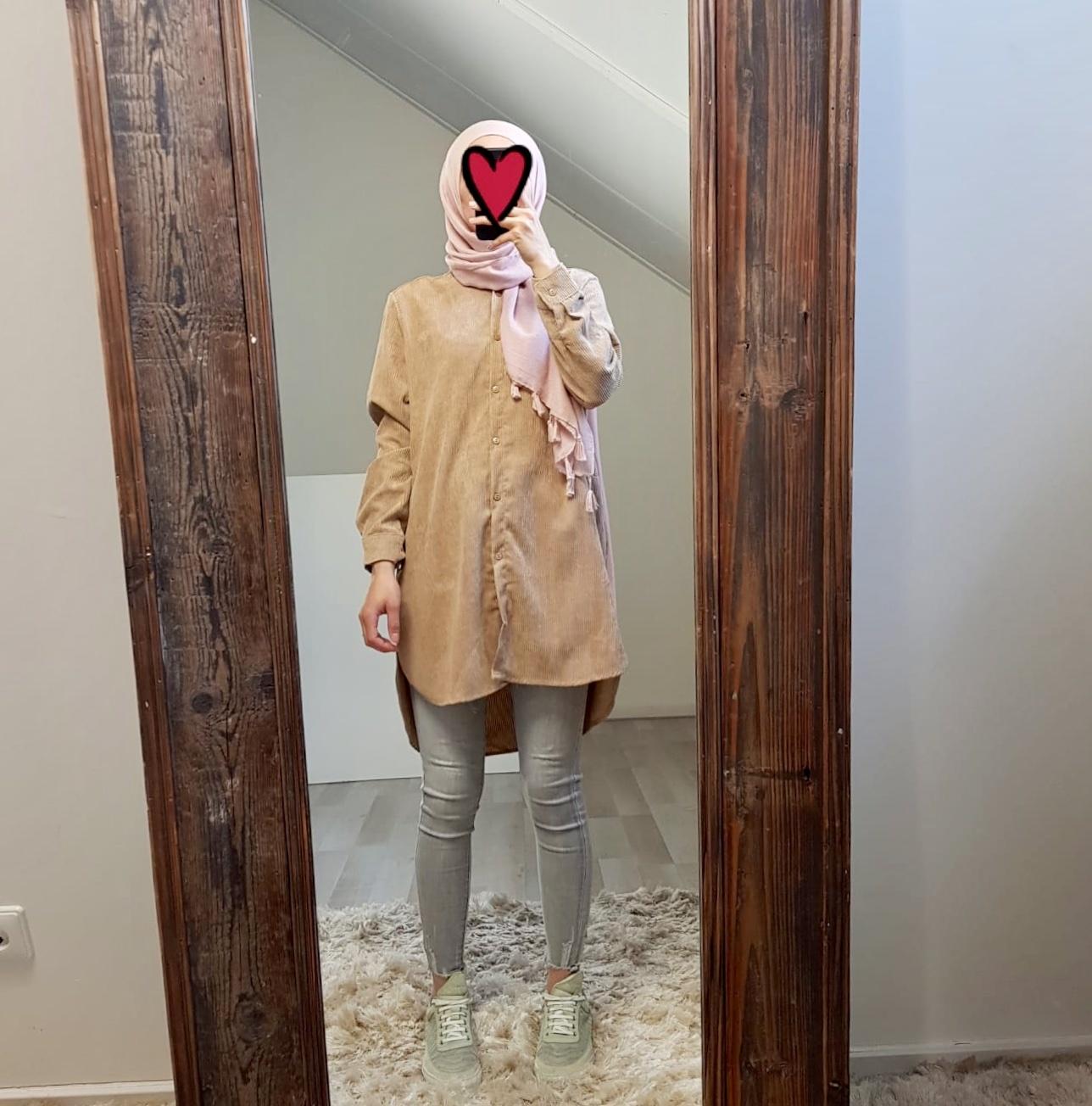 Corduroy blouse elpidio beige