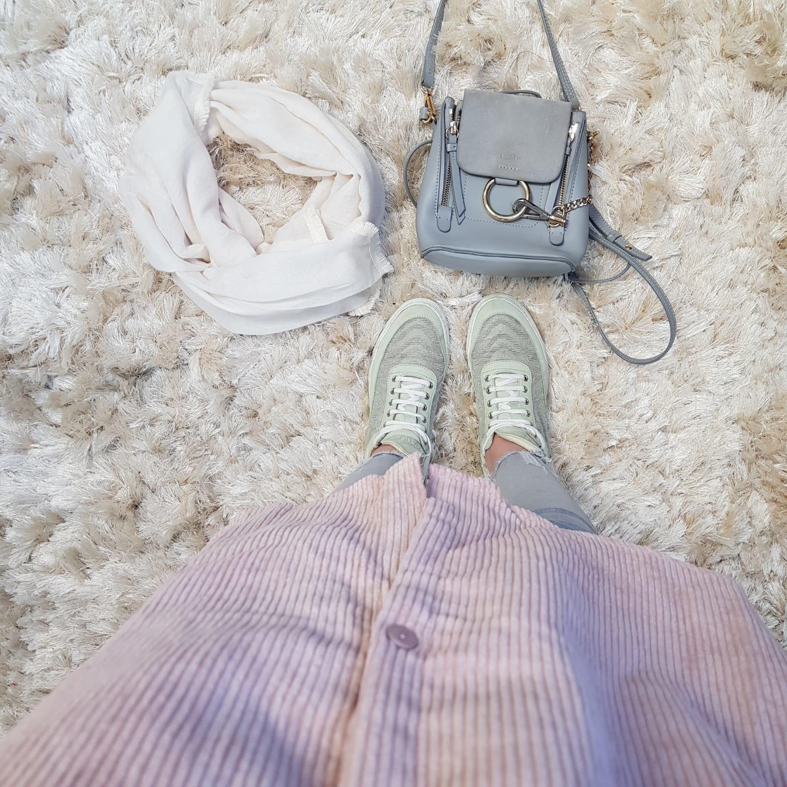 Corduroy blouse elpidio oud roze