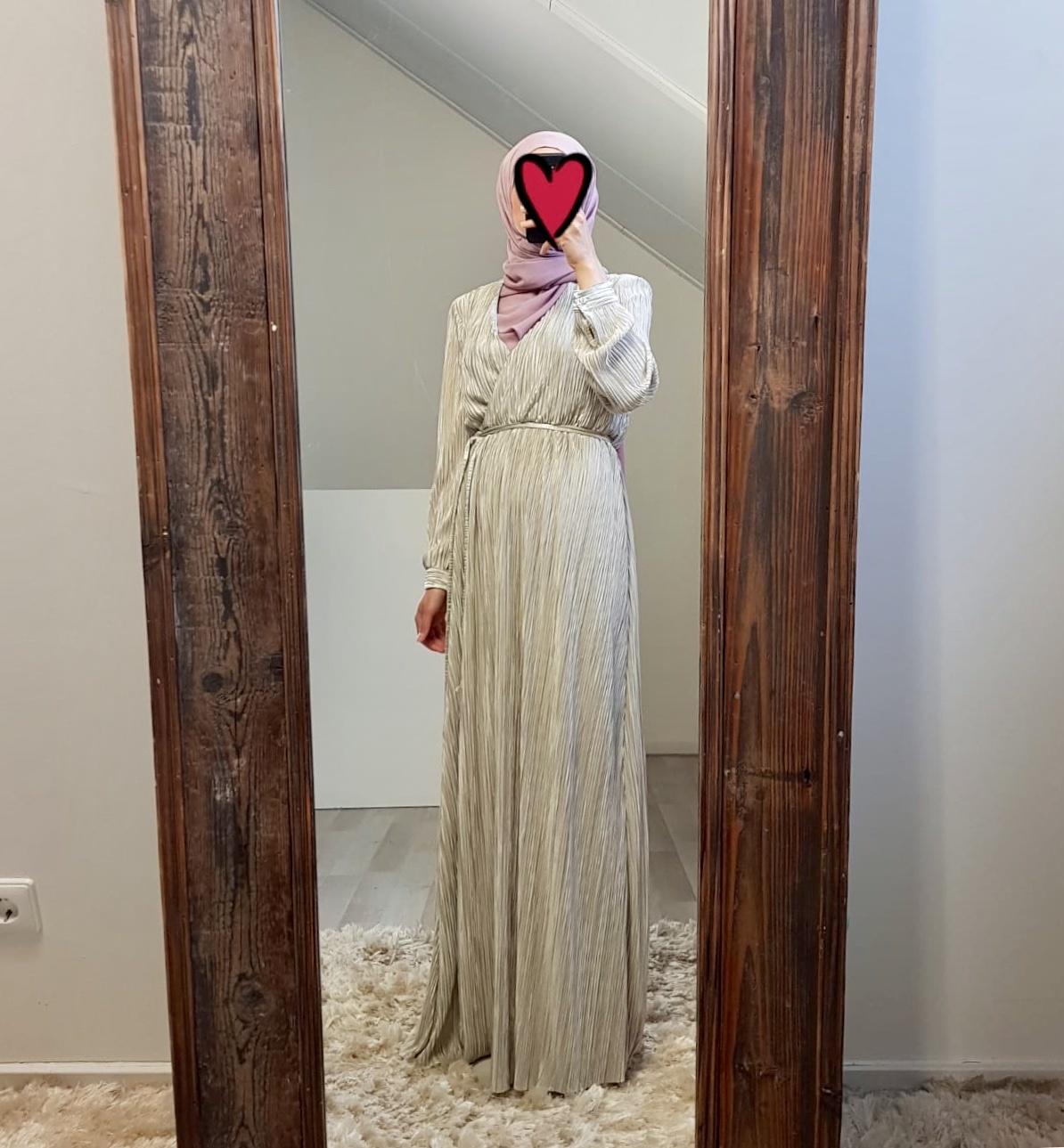 Plisse jurk amantea pistache