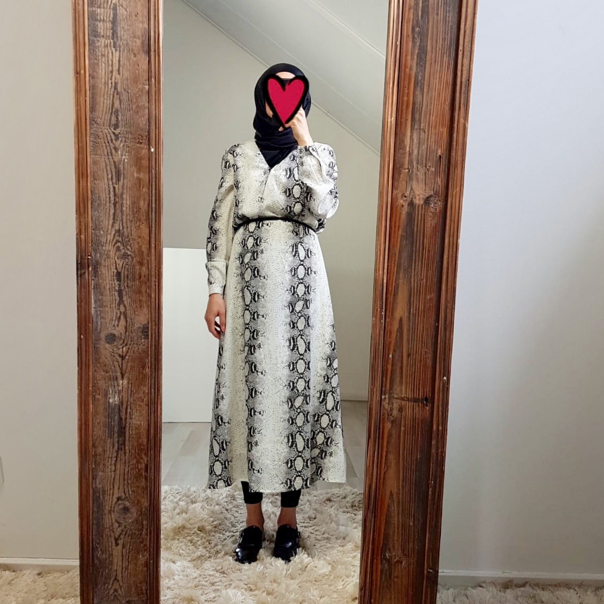 dress snakeprint Giulianova black