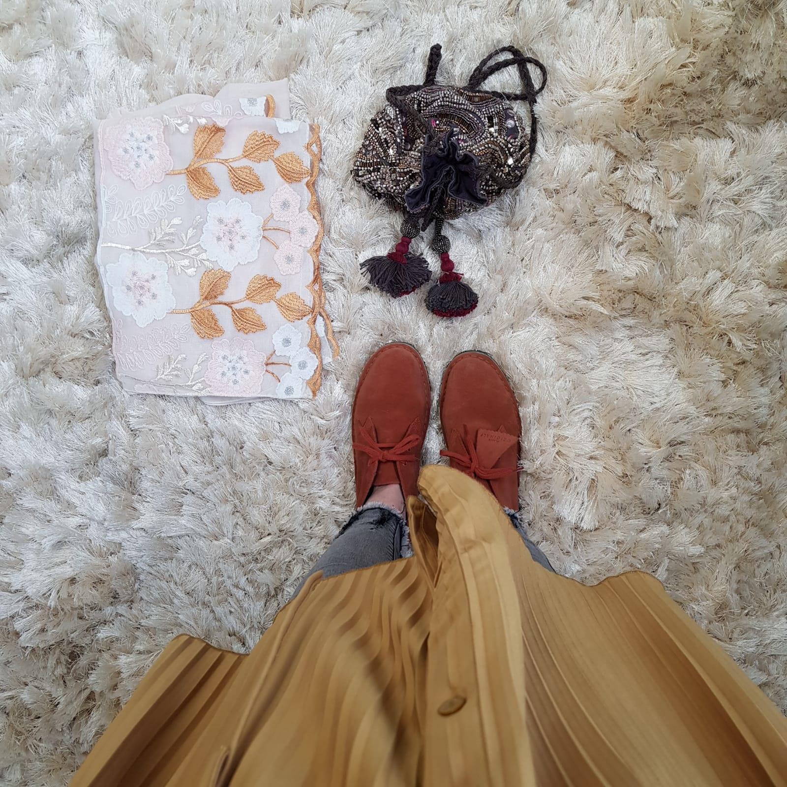 pleated dress alessano yellow