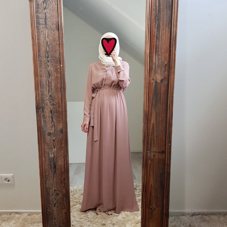 Maxi jurk rimini oud roze