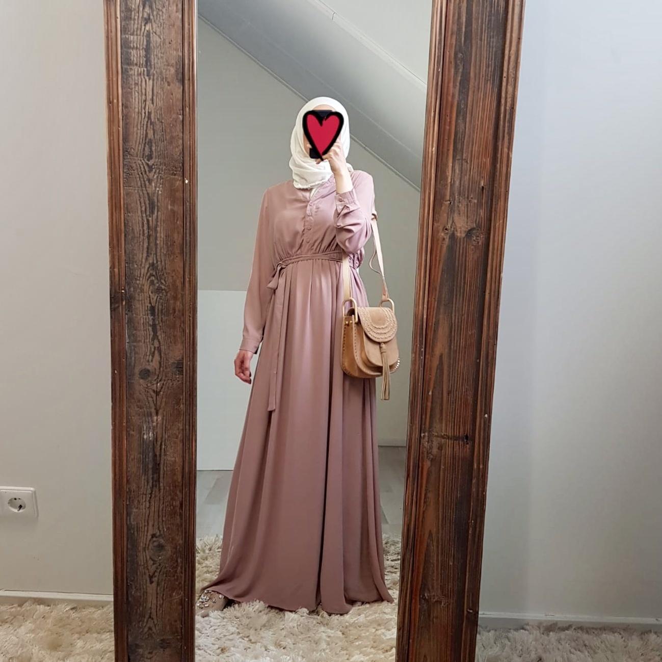 Maxi dress antique pink