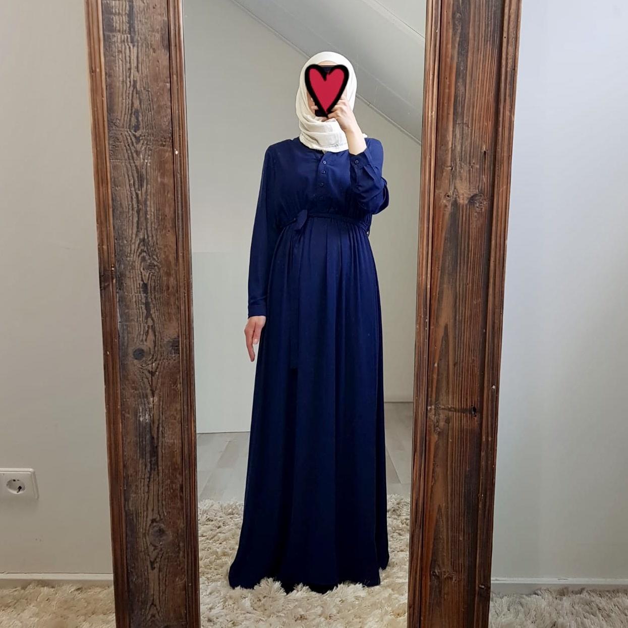 Maxi jurk rimini d-blauw