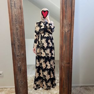 Maxi dress rimini print black V2 - Copy