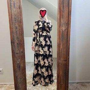 Maxi jurk rimini print zwart V2