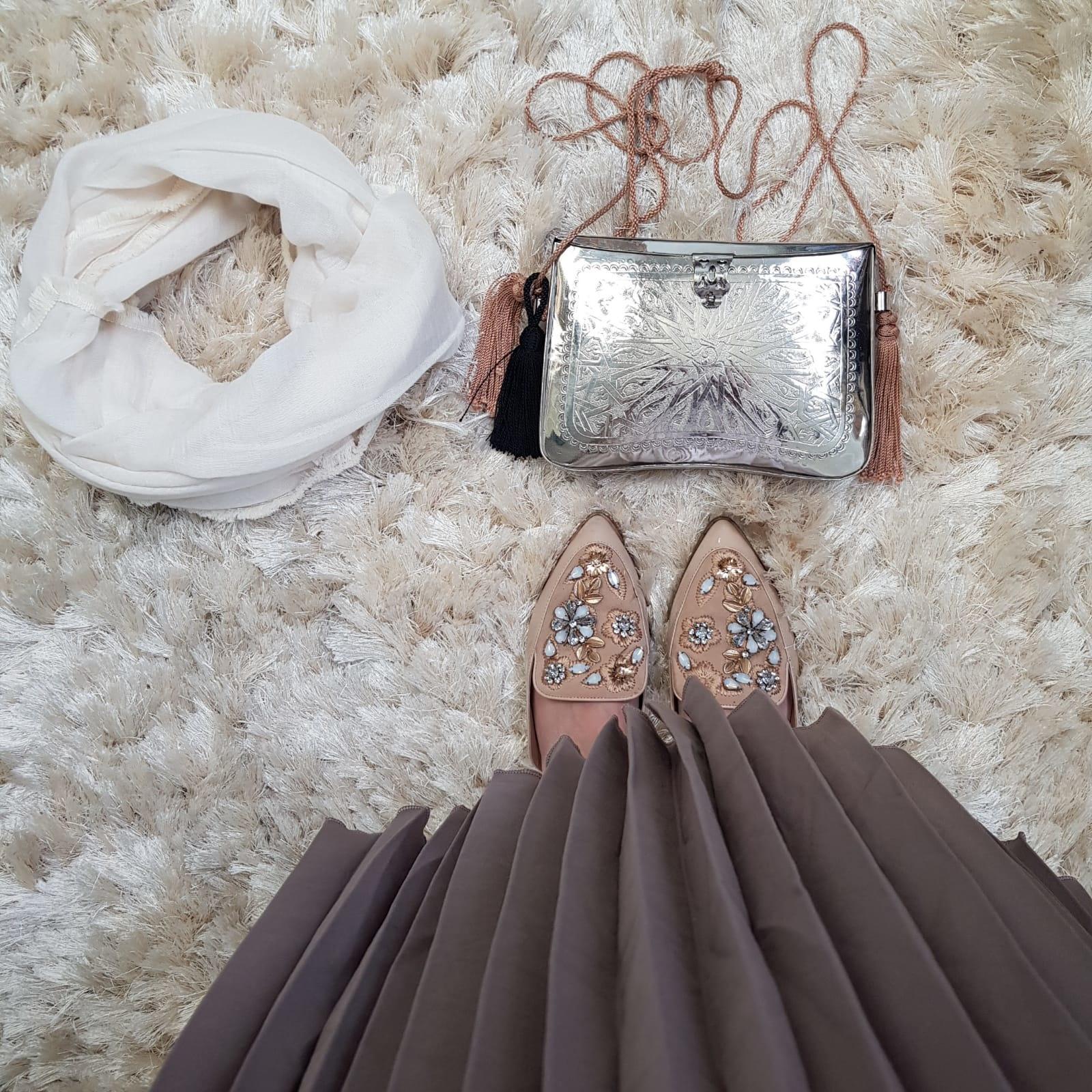 dress salerno taupe