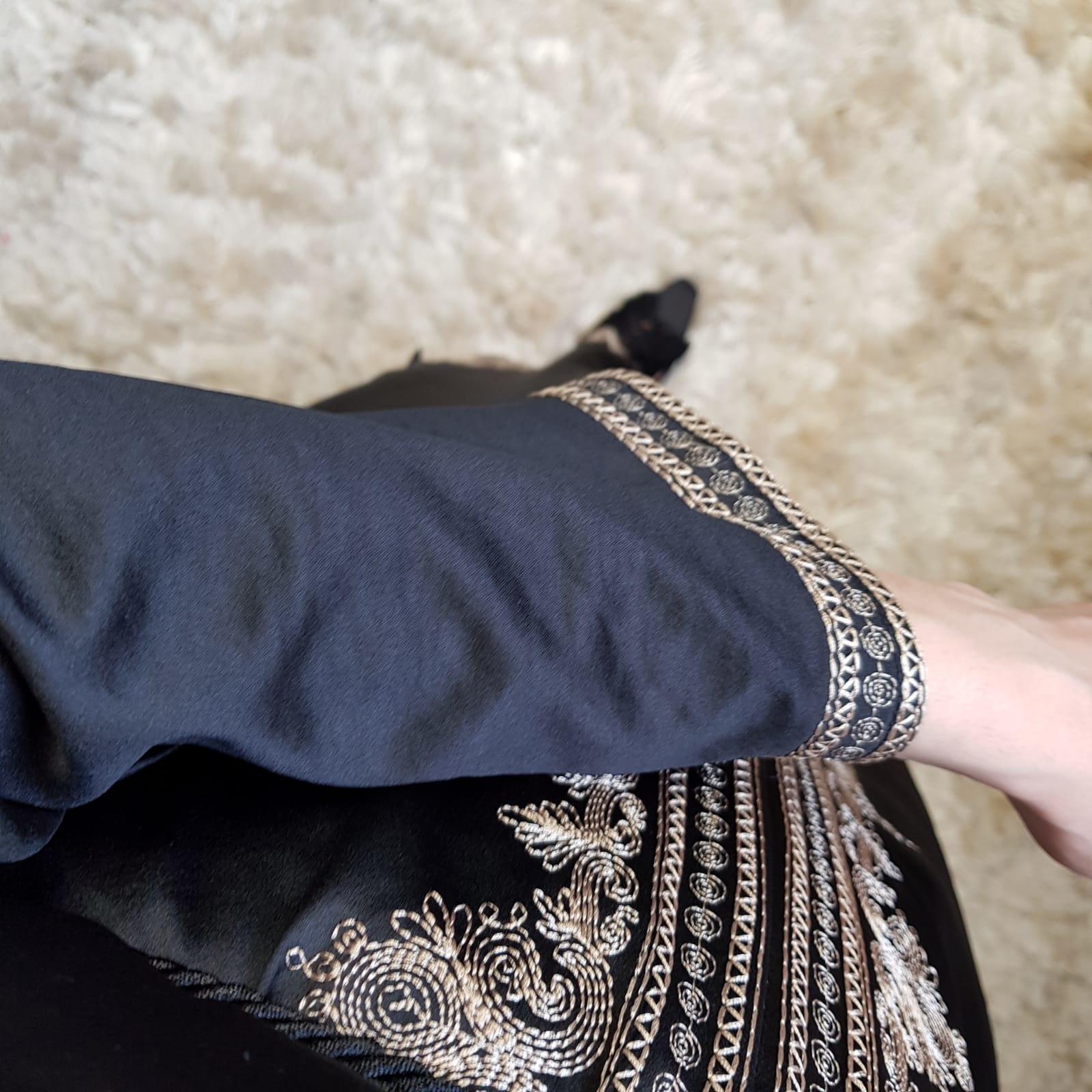 Abaya dress elba black-b