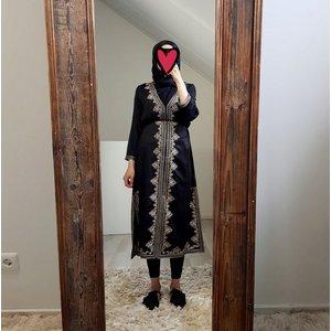 abaya jurkje elba zwart-b