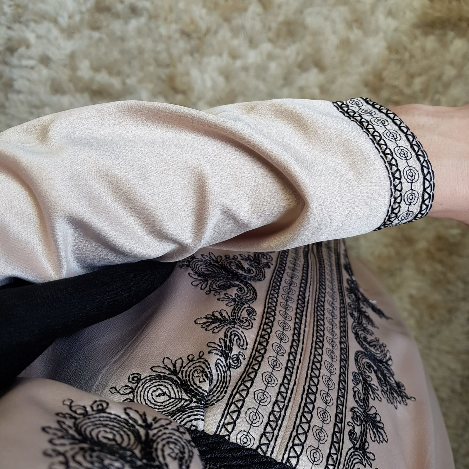 Abaya dress elba beige