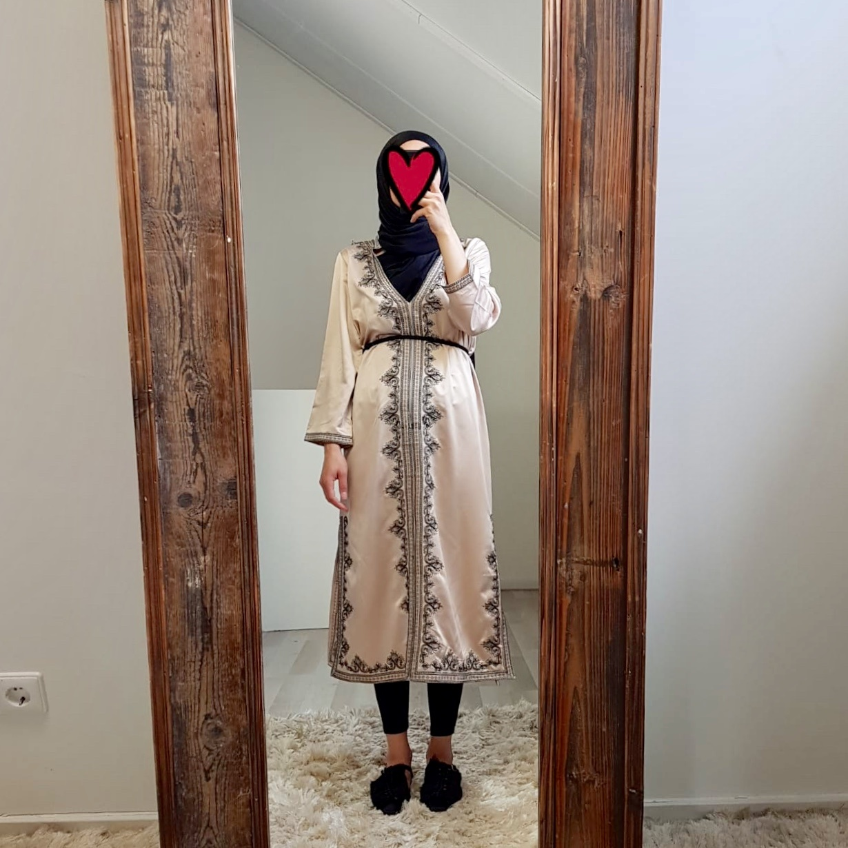 abaya jurkje elba beige