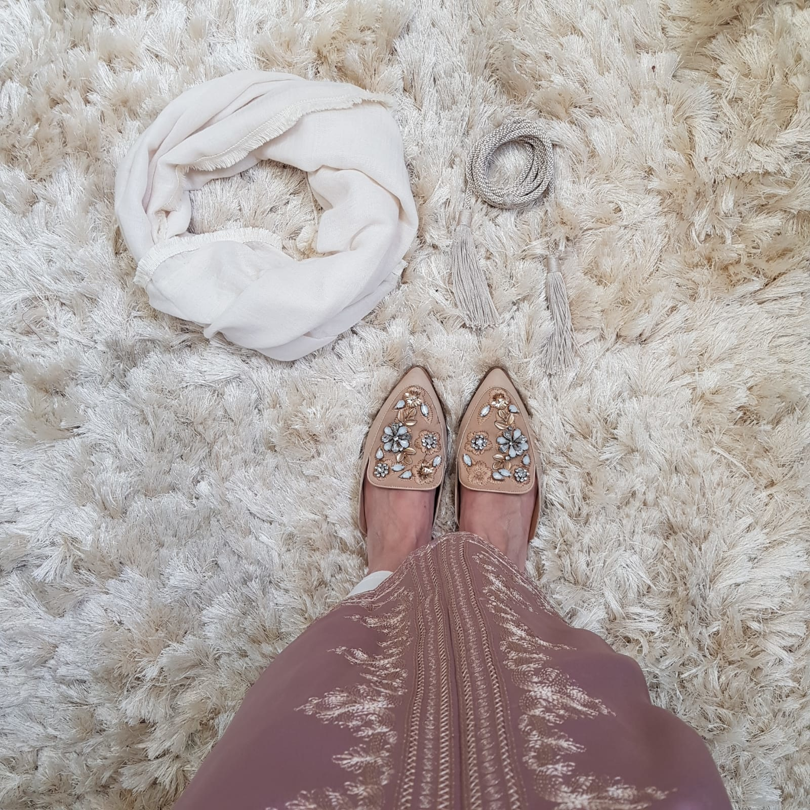 Abaya dress elba rose