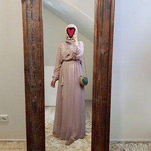 Maxi jurk bibbona roze