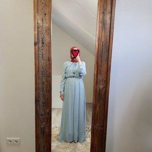 Maxi jurk bibbona blauw