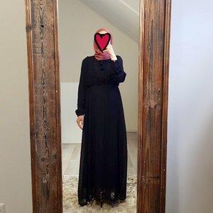 Maxi jurk bibbona zwart