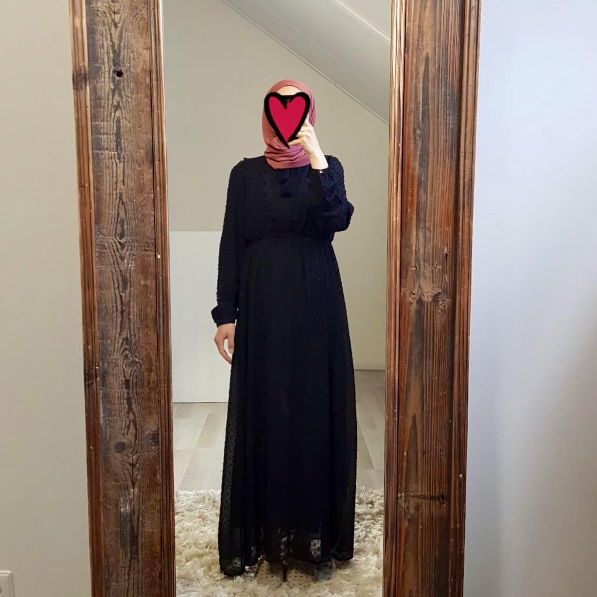 Maxi dress bibbona black