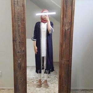 kimono falerna blauw