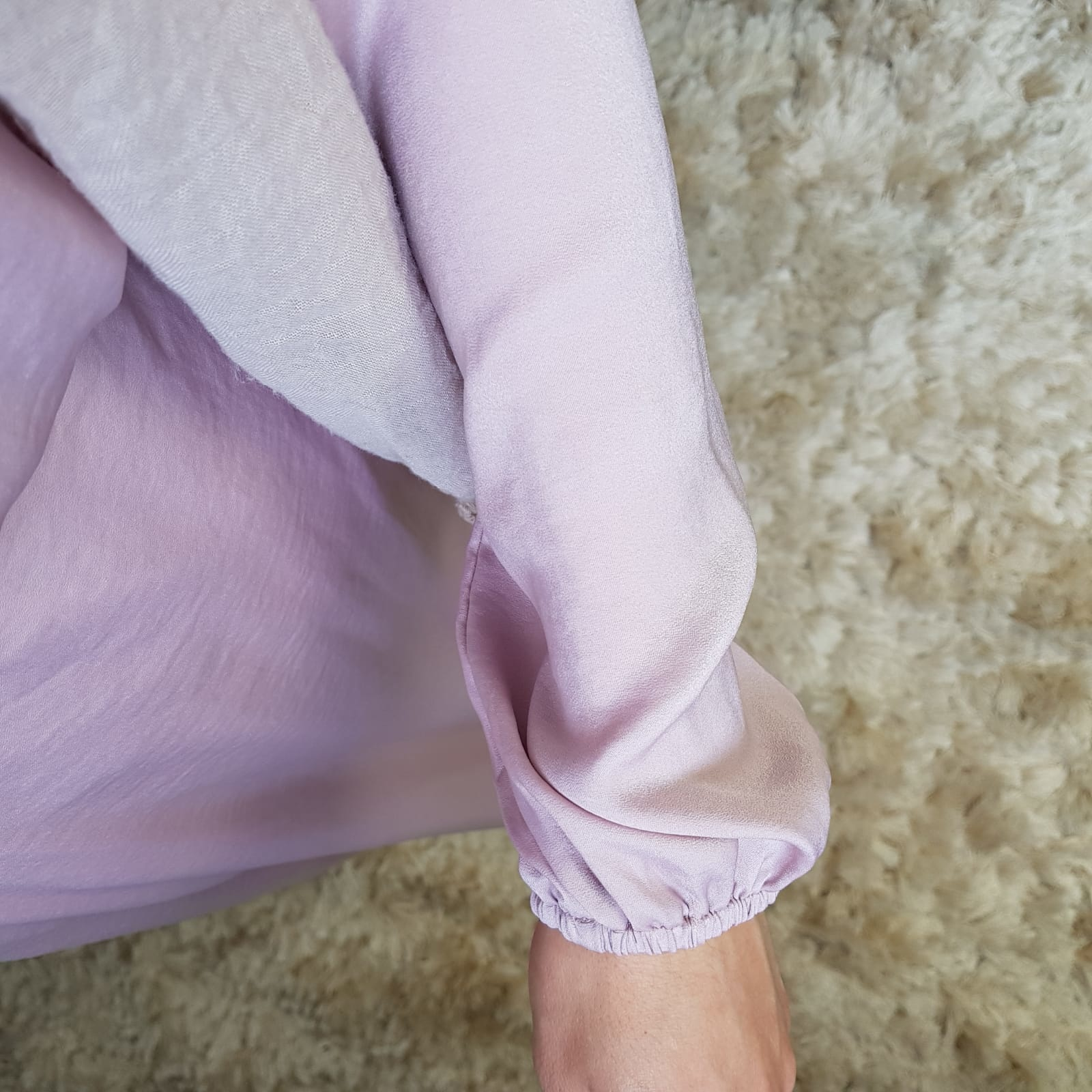 Jurkje satin scilla  pink