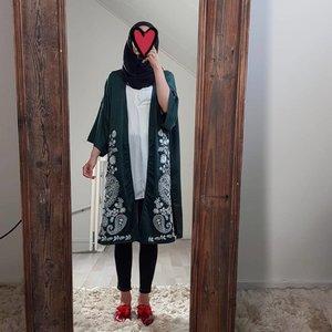 Kimono belvedere groen