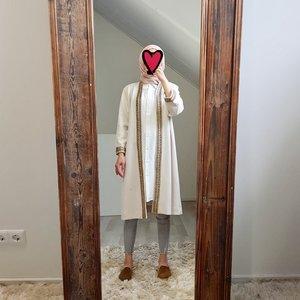 kimono (suede look) atrani off white
