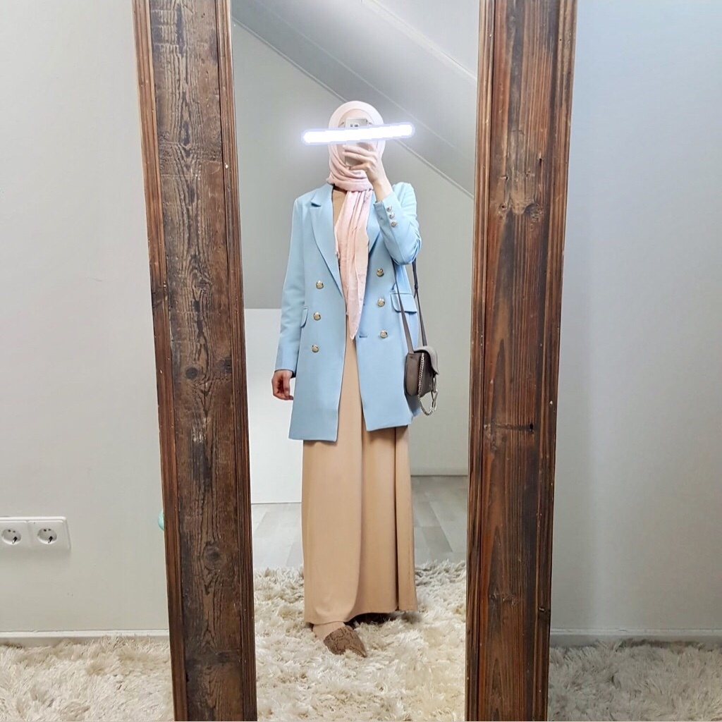 Blazer fuscaldo light blue