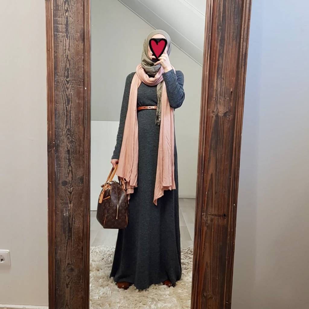 abaya sweater Lonio grijs