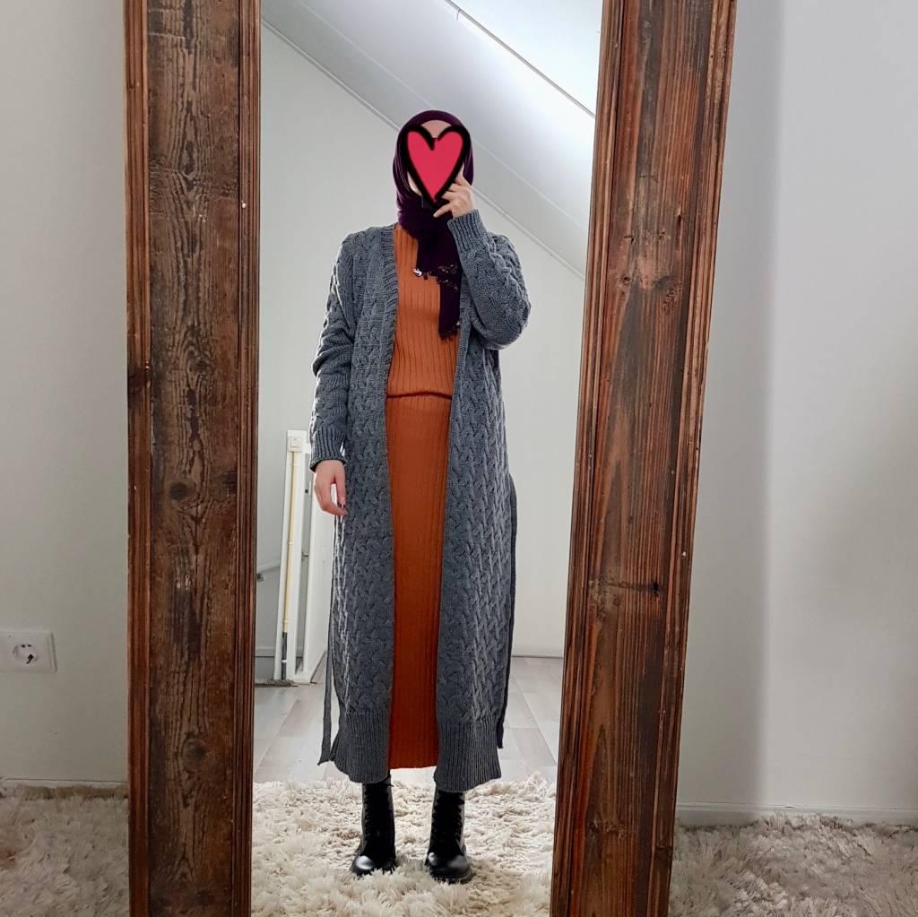 oversized vest bibione grijs