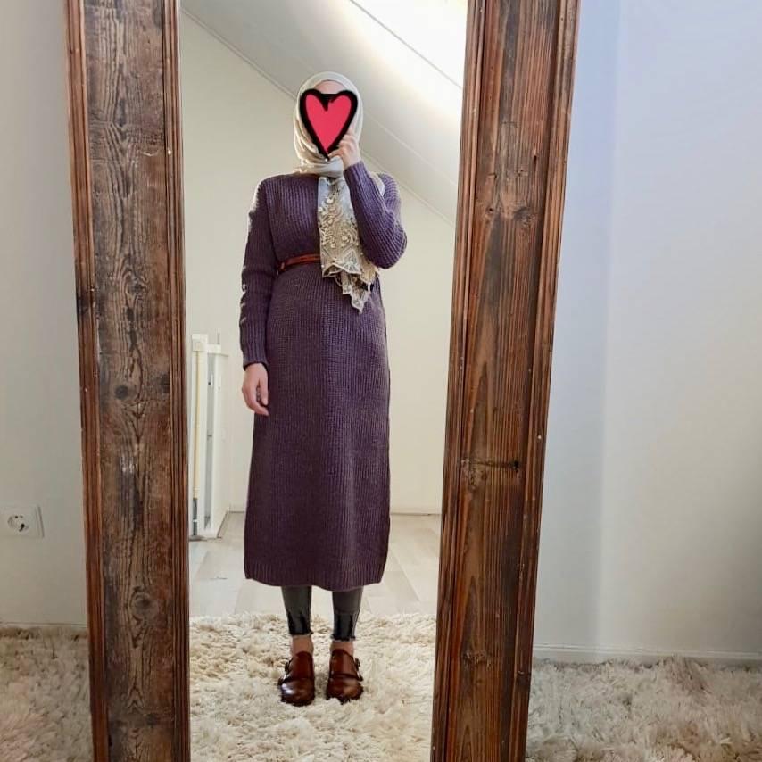 sweater rosetto aubergine