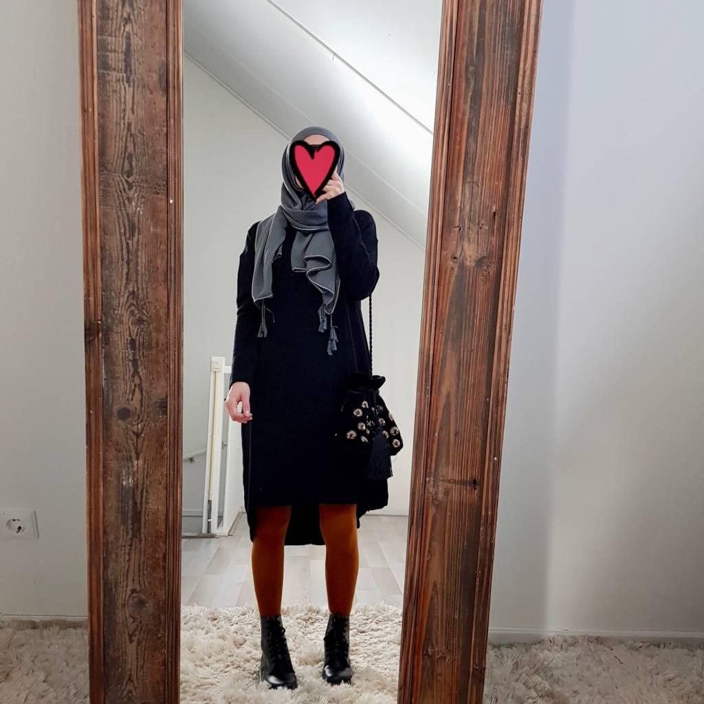 Oversized trui cipressa zwart - Copy