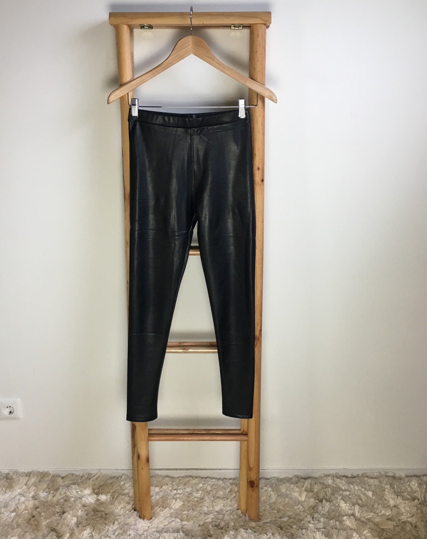 Leater look pants lecce mono black