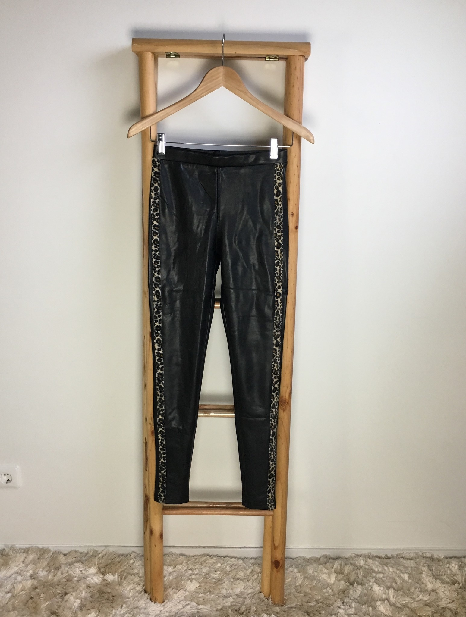 Leater look pants lecce mono black-panther