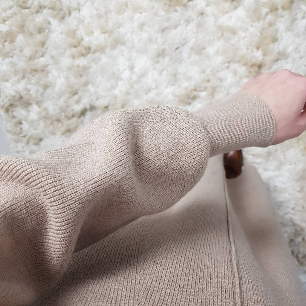 Maxi sweater diso beige