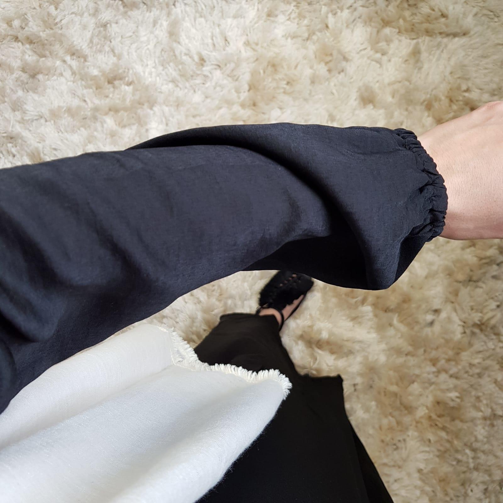 Maxi jurk (satin) scarlino zwart