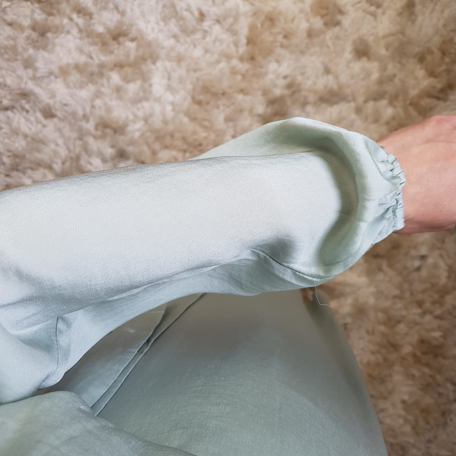 Maxi jurk (satin) scarlino mintgroen