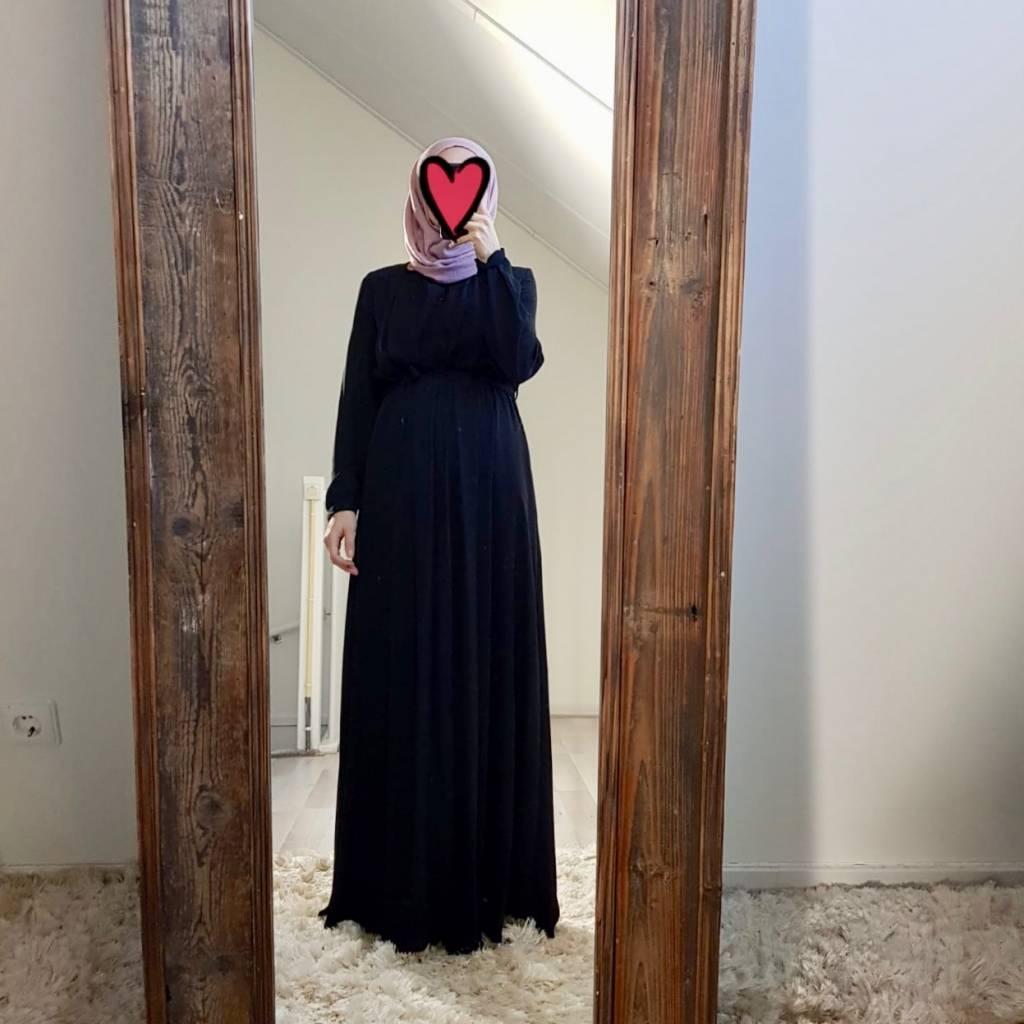 Maxi jurk palmdale zwart
