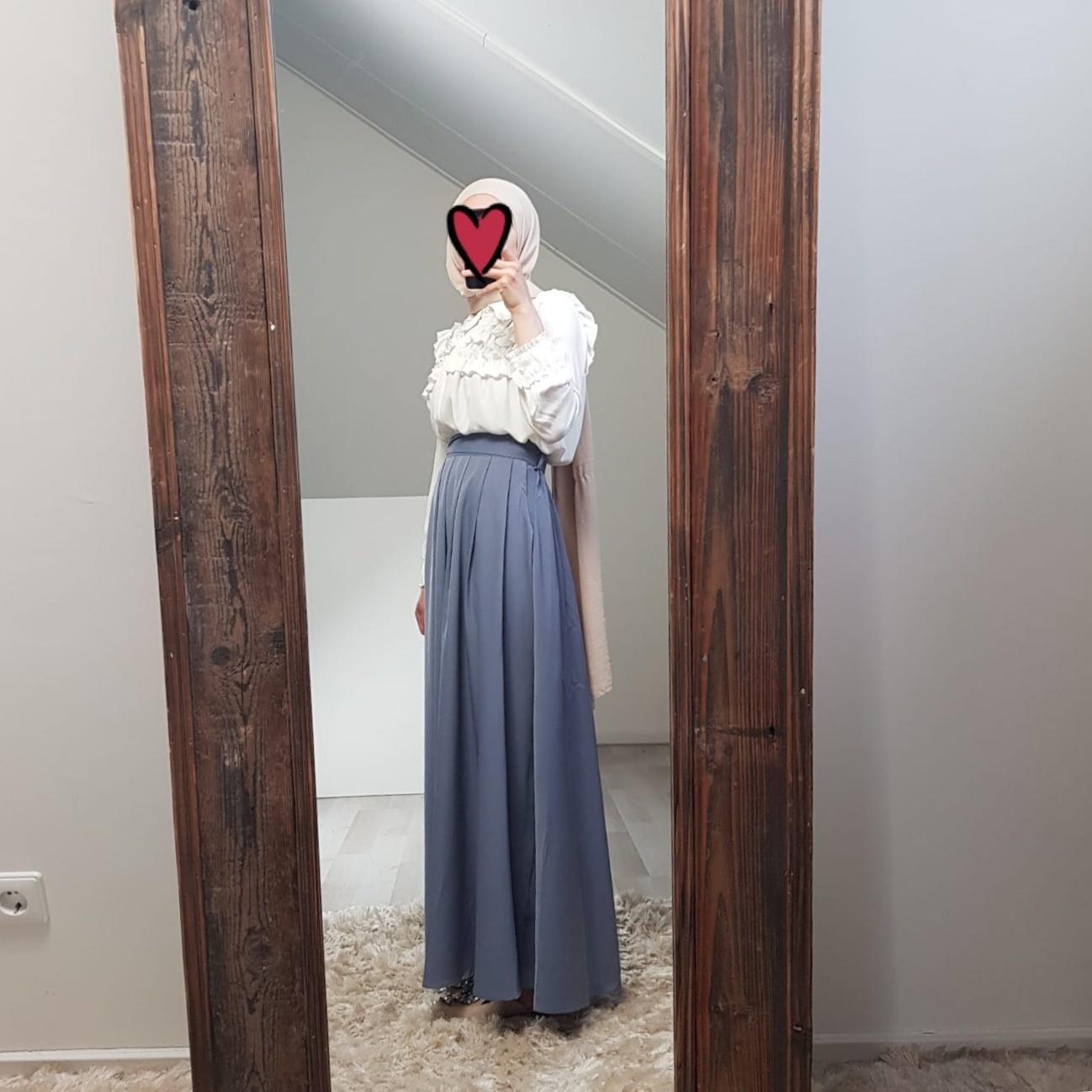 skirt ercalano ice blue