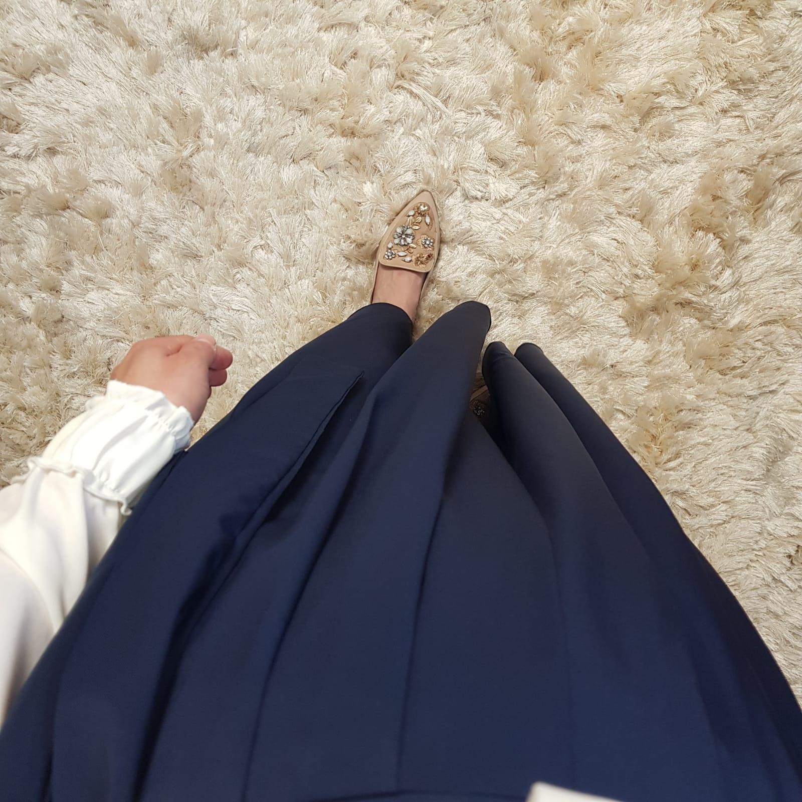 skirt ercalano dark blue