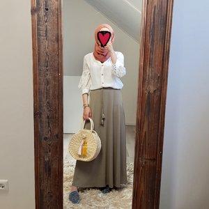 Maxi skirt cellole taupe