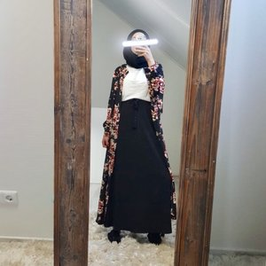 Maxi skirt cellole black