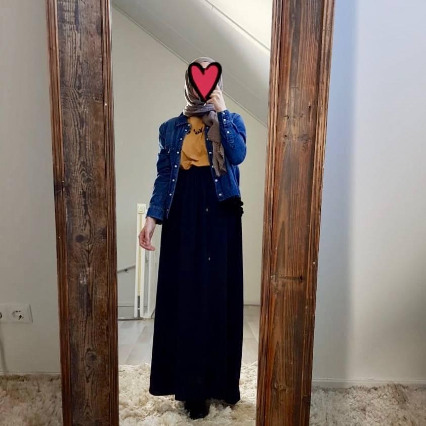 Maxi rok santa cruz donkerblauw