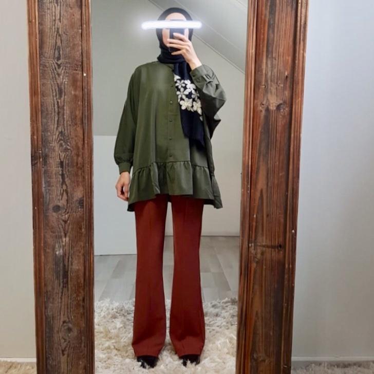 Flarred pants gallipoli d-brown