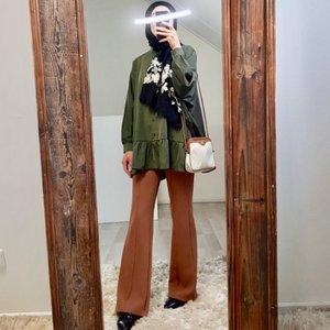Flarred pants gallipoli l-brown