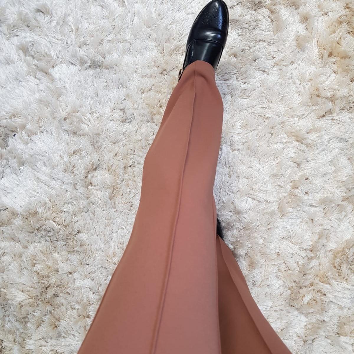 Flarred pants gallipoli l-bruin