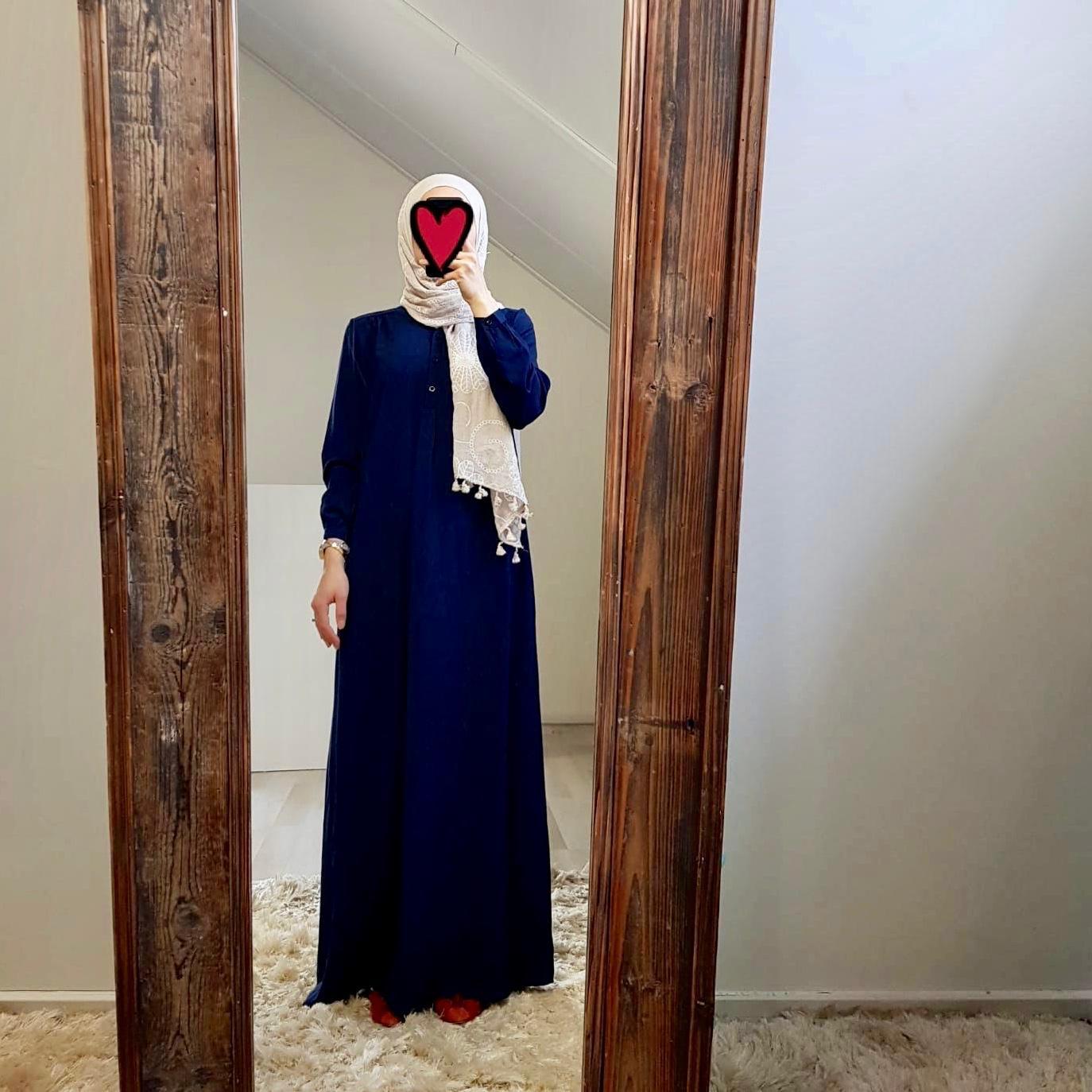 Abaya albarella d-blauw