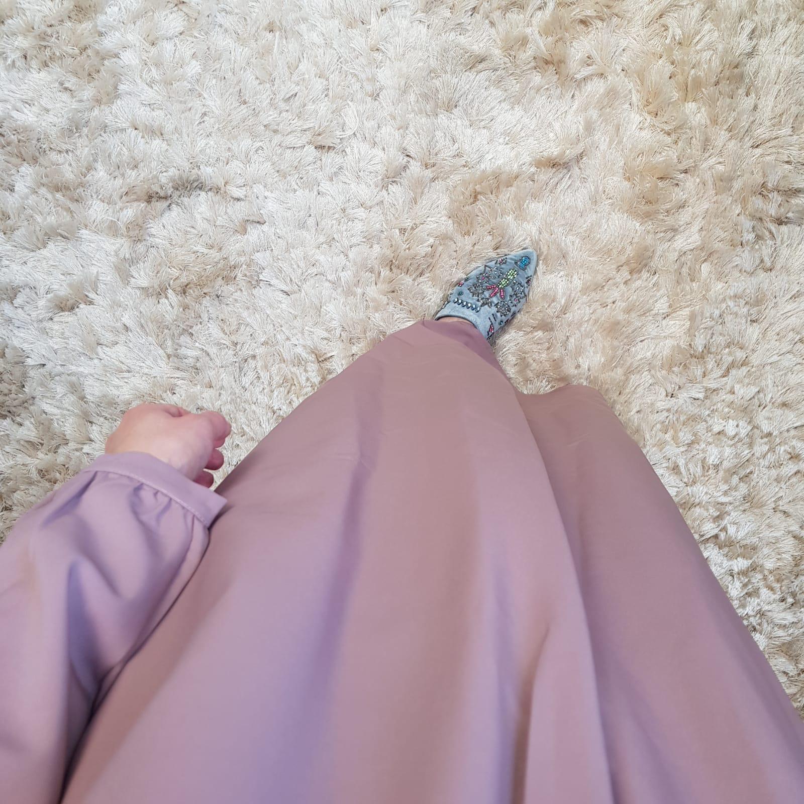 Abaya albarella zacht roze