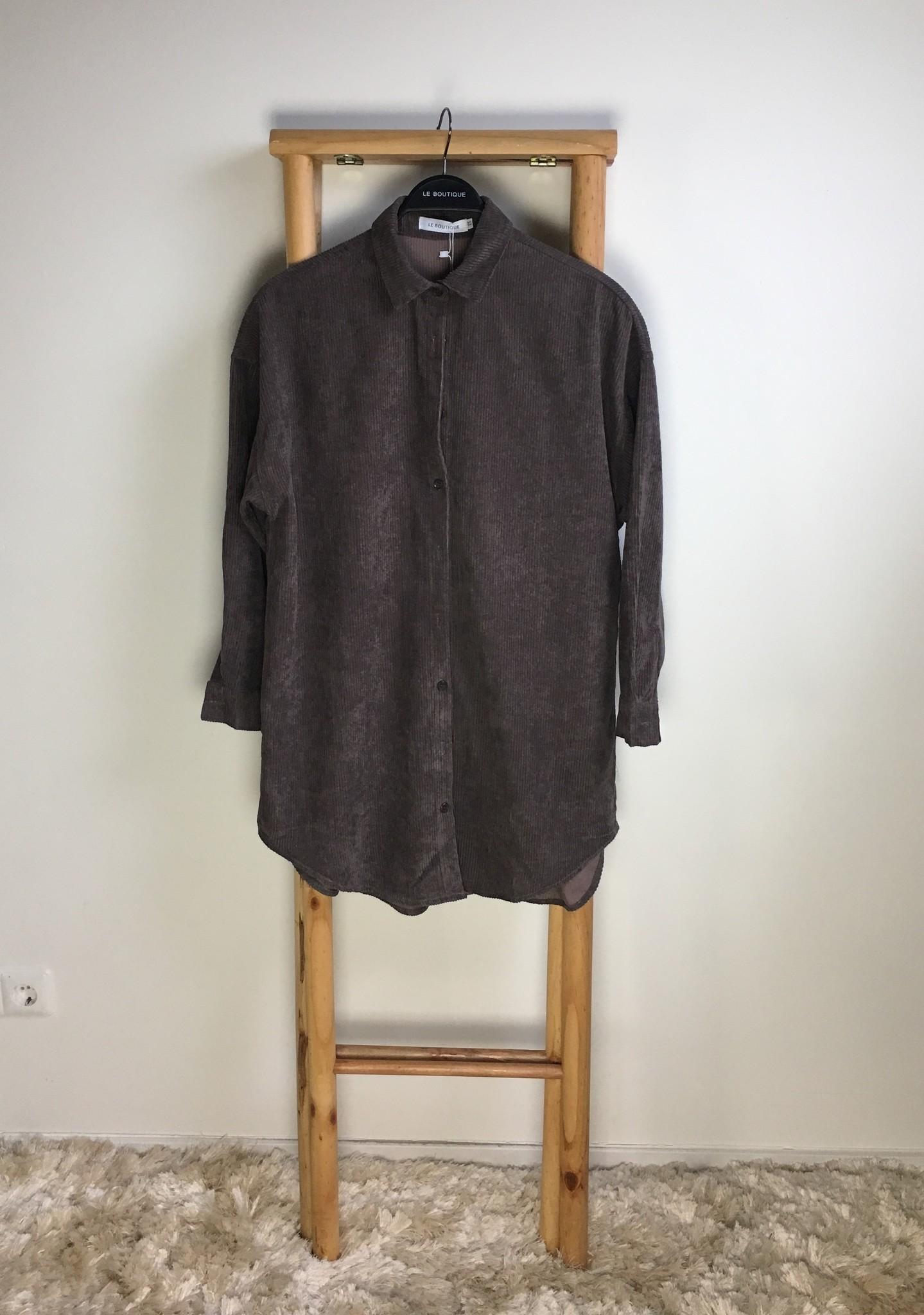 Curduroy blouse rapallo l-brown