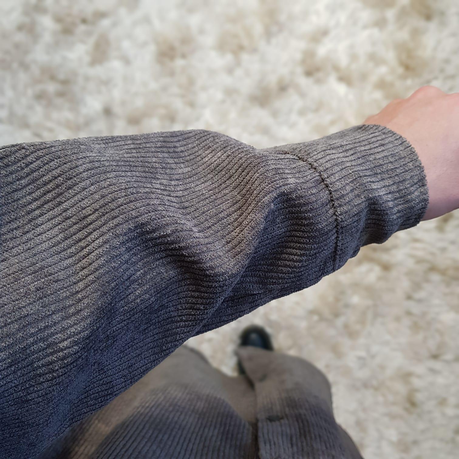 Ribbel blouse rapallo l-bruin