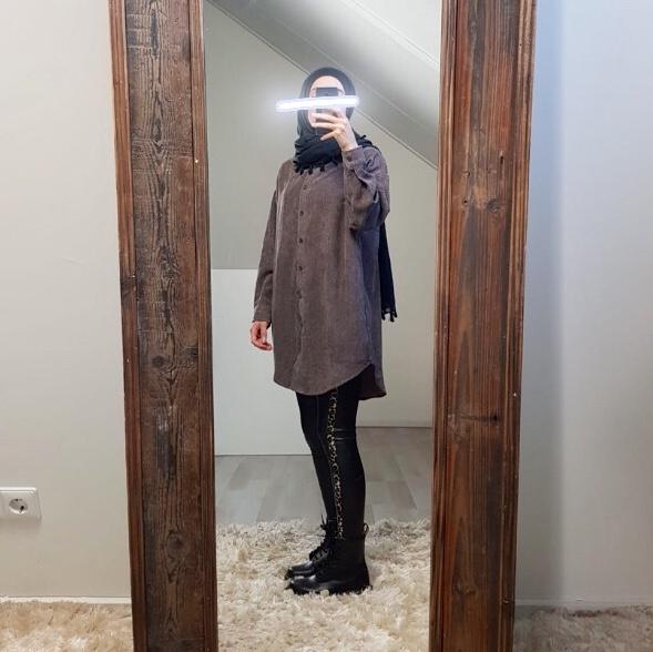 Curduroy blouse rapallo d-brown
