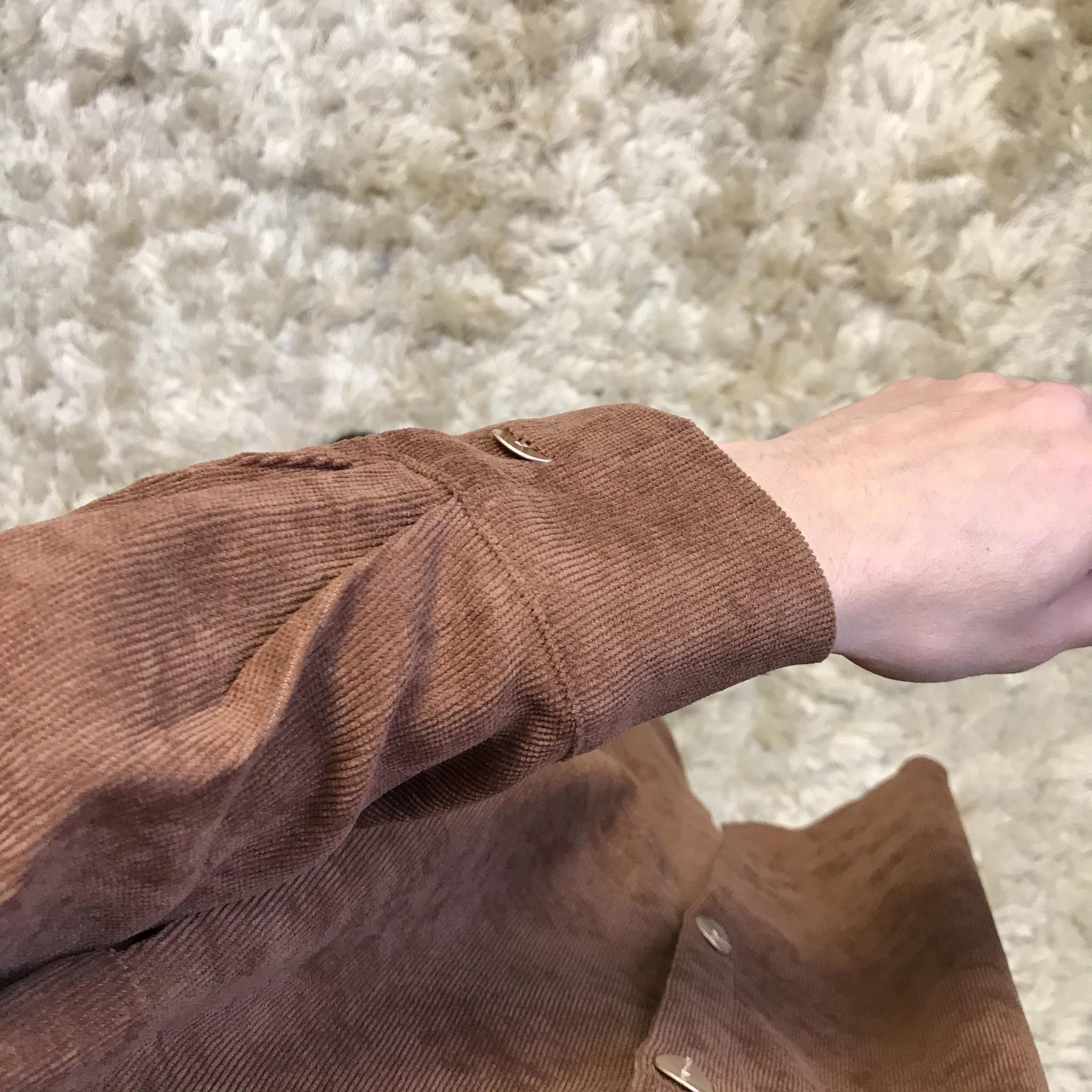 Curduroy blouse antelao bruin