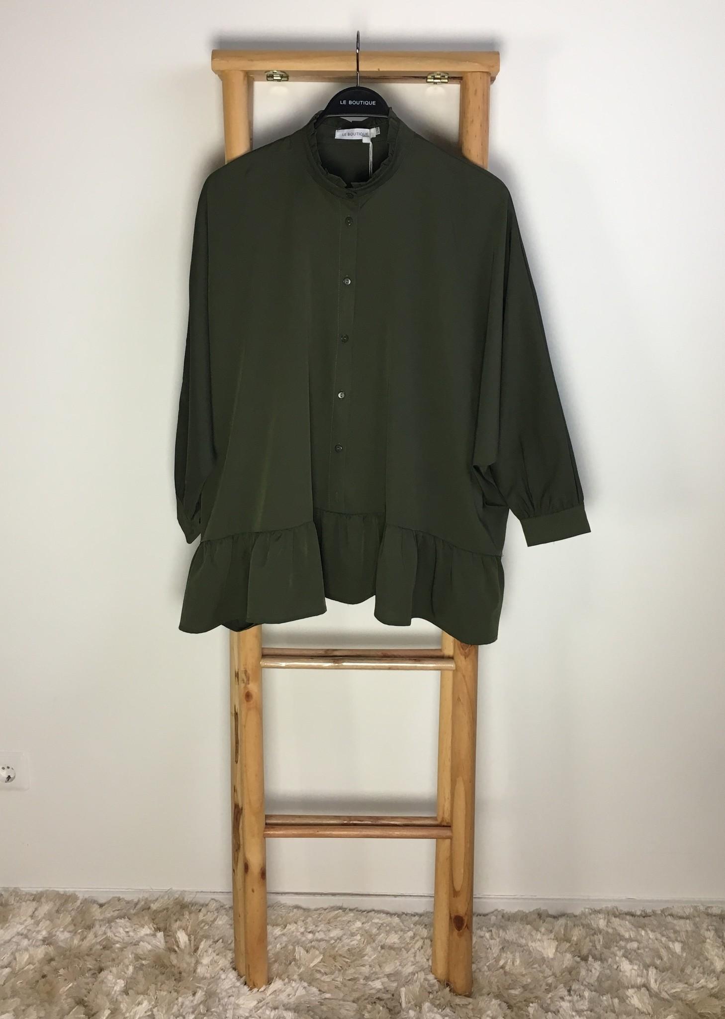 Tuniek nocera groen  (oversized)